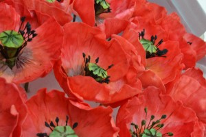 Edible handmade poppies