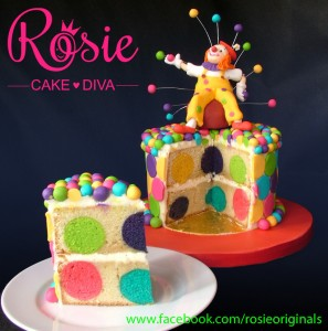 Spotty Dotty Polka Dot Surprise Inside Cake by Rosie Cake Diva