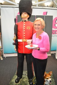 Mary Berry with Life Sized Grenadier Guard Cake by Rosie Cake Diva