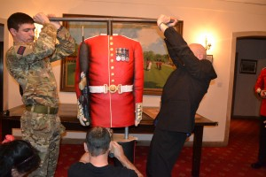 Moving a life sized Grenadier Guard soldier cake