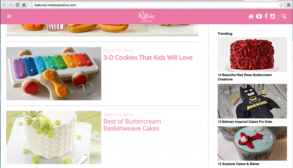 Featured Rosie Cake Diva