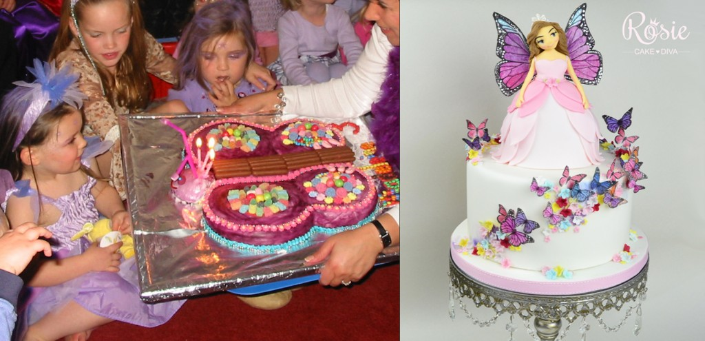 Purple butterflies before and after! I know, I know! It's SHOCKING!