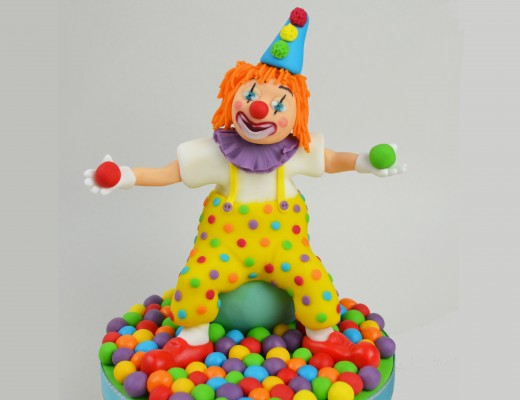 Clown Wedding Cake Toppers