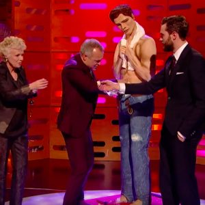 Christian Grey Cake Graham Norton Show Jamie Dornan