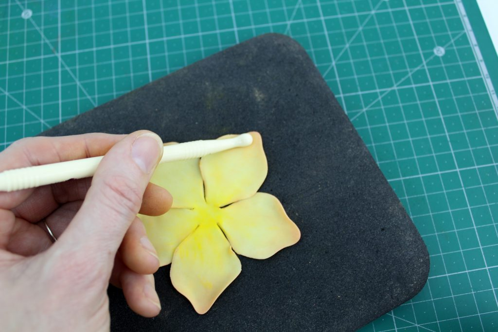 Gluing Sugar Flowers