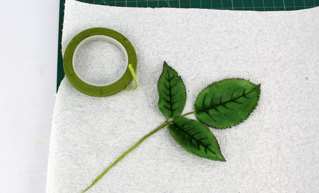 Wired Gum Paste Leaves