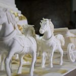 Modelling Paste Horse on Royal Wedding Special Cake
