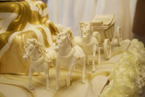 Modelled Sugar Horses by Rosie Cake Diva for Royal Wedding Cake Special